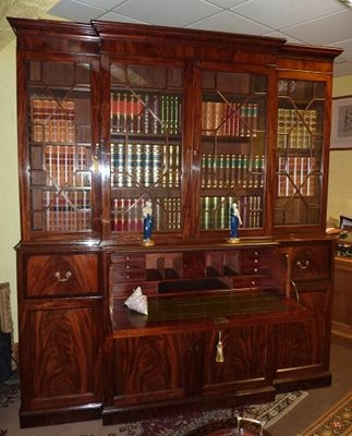 George III Breakfront Bookcase