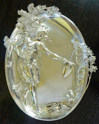W.M.F Silver Plated Pewter Plaque